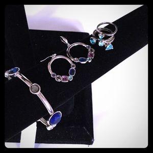 Jewelry - Bracelet earrings stacking rings bundle lot of 5